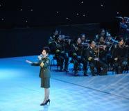 Chanteur célèbre Dong Wenhua-theFamous de militaires et classicconcert Image libre de droits