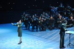 Chanteur célèbre Dong Wenhua-theFamous de militaires et classicconcert Photo stock
