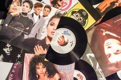 Chanteur célèbre et les films 1990 d'étoiles photographie stock