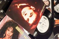 Chanteur célèbre et les films 1990 d'étoiles image libre de droits