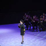 Chanteur célèbre Liu Xiaona-theFamous de militaires et classicconcert Image stock