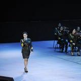 Chanteur célèbre Liu Xiaona-theFamous de militaires et classicconcert Images stock