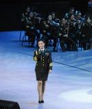 Chanteur célèbre Liu Xiaona-theFamous de militaires et classicconcert Photographie stock libre de droits