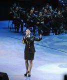 Chanteur célèbre Liu Xiaona-theFamous de militaires et classicconcert Images libres de droits