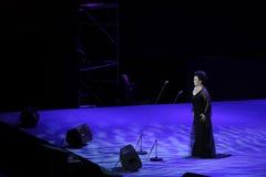 Chanteur célèbre Wang Xiufen-theFamous de chant de bel de Chinois et classicconcert Photo stock