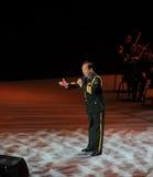 Chanteur célèbre Xiong Qincai-theFamous de militaires et classicconcert Image libre de droits