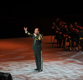 Chanteur célèbre Xiong Qincai-theFamous de militaires et classicconcert Image stock