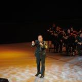 Chanteur célèbre Xiong Qincai-theFamous de militaires et classicconcert Photos libres de droits