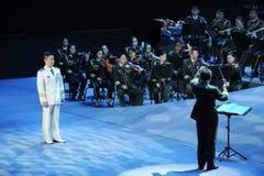 Chanteur célèbre Yan Weiwen-theFamous de la Chine et classicconcert Images libres de droits
