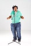 Chanteur d'Afro-américain image libre de droits