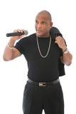 Chanteur d'Afro-américain Image stock