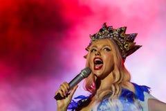Chanteur d'Olya Polyakova Photographie stock libre de droits