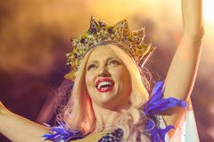 Chanteur d'Olya Polyakova Photo libre de droits