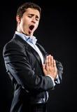 Chanteur d'opéra image stock