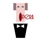 Chanteur d'opéra dans un smoking avec un noeud papillon Images libres de droits