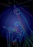 Chanteur de bruit illustration stock