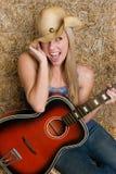 Chanteur de country Photos libres de droits