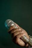 Chanteur de coup sec et dur Photo stock