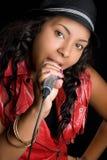 chanteur de karaoke Images stock