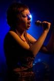 chanteur de scène Photographie stock libre de droits