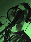 Chanteur de studio Image libre de droits