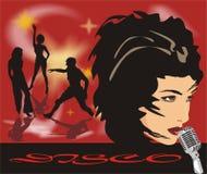 Chanteur. Disco. Fond Images stock
