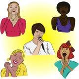 Chanteur et la foule des fans. Images stock