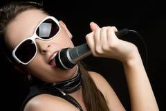 Chanteur féminin images stock