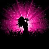 Chanteur féminin illustration libre de droits