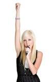 Chanteur féminin Images libres de droits