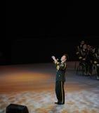 Chanteur folk célèbre Wang Hongwei-theFamous de Chinois et classicconcert Photos libres de droits