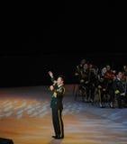 Chanteur folk célèbre Wang Hongwei-theFamous de Chinois et classicconcert Images libres de droits