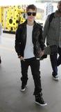 Chanteur Justin Bieber à l'aéroport de LAX. Images libres de droits