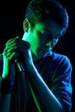 Chanteur Melancholic Images libres de droits