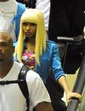 Chanteur Niki Minaj à l'aéroport de LAX Images stock