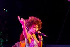 Chanteur Oceana sur l'exposition de l'EURO 2012 de l'UEFA Photo libre de droits