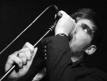 Chanteur principal de Francesqa de concert Image libre de droits