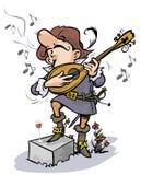 Chanteur romantique. Image stock