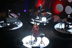 Chanteur suédois Lisa Nilsson au hus de Kulturens dans LuleÃ¥ image stock