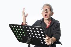 Chanteur supérieur d'opéra Photo libre de droits