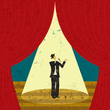 Chanteur sur l'étape Image stock