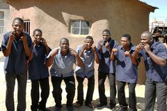 Chanteurs africains de choeur Photographie stock libre de droits
