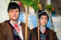 Chanteurs de chant de Noël Photo libre de droits
