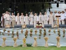 Chanteurs folks, Lithuanie Photos stock