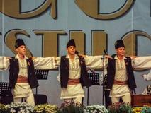 Chanteurs traditionnels folkloriques à Bucarest juste 2016 Photo libre de droits