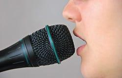 Chanteuse photographie stock libre de droits