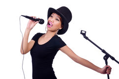 Chanteuse afro-américaine Image stock