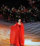 Chanteuse célèbre Dong Wenhua-theFamous de Chinois et classicconcert Photos stock