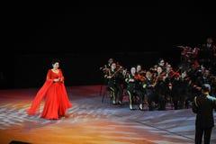 Chanteuse célèbre Dong Wenhua-theFamous de Chinois et classicconcert Image libre de droits