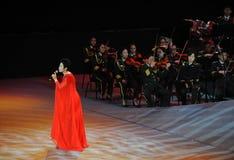 Chanteuse célèbre Dong Wenhua-theFamous de Chinois et classicconcert Photos libres de droits